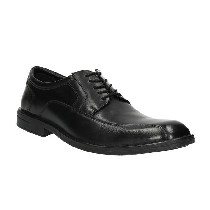 Półbuty męskie ze skóry bata, czarny, 824-6744 - 13