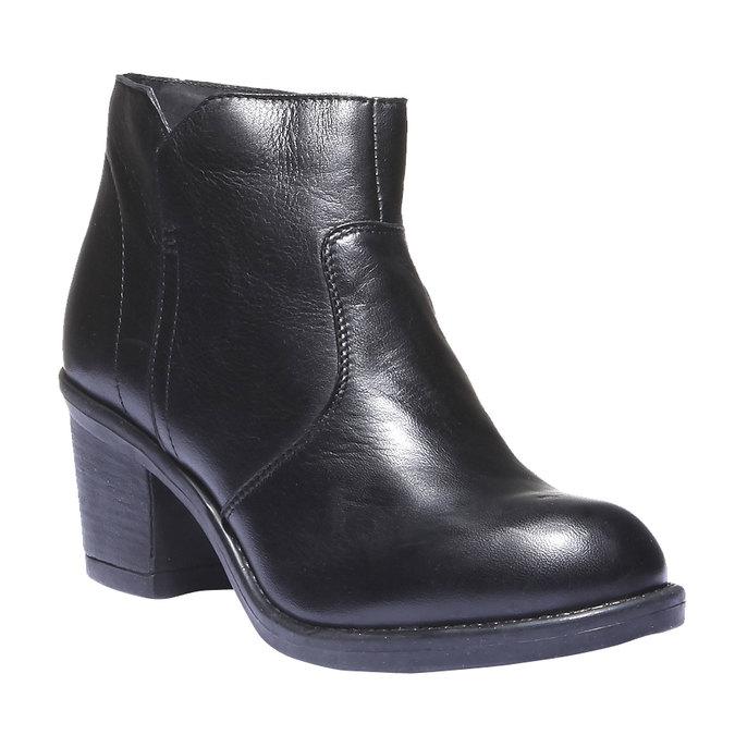 Skórzane botki bata, czarny, 794-6284 - 13