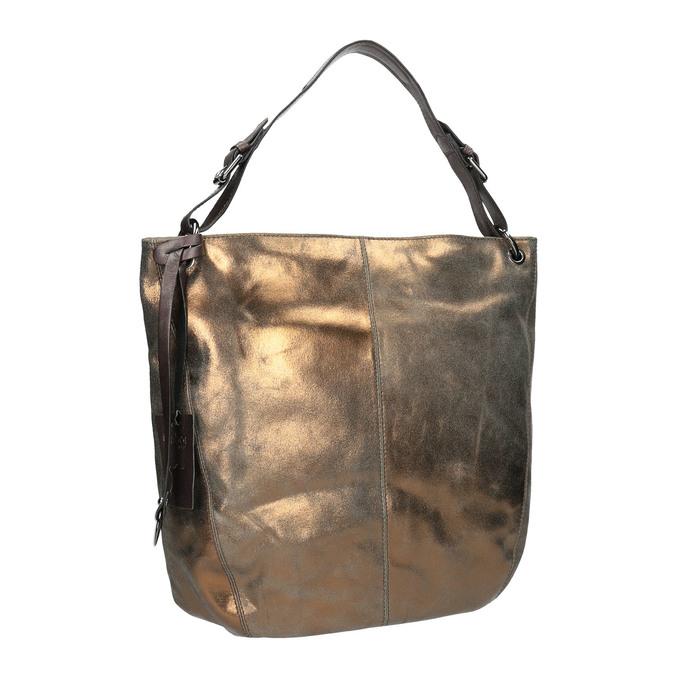 Złota skórzana torba gabor-bags, złoty, 966-8001 - 13