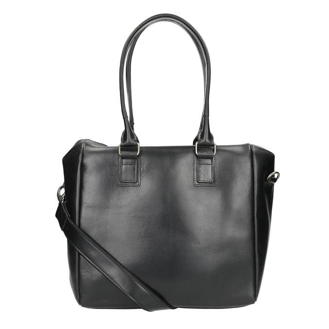 Skórzana torebka z odpinanym paskiem royal-republiq, czarny, 964-6039 - 19