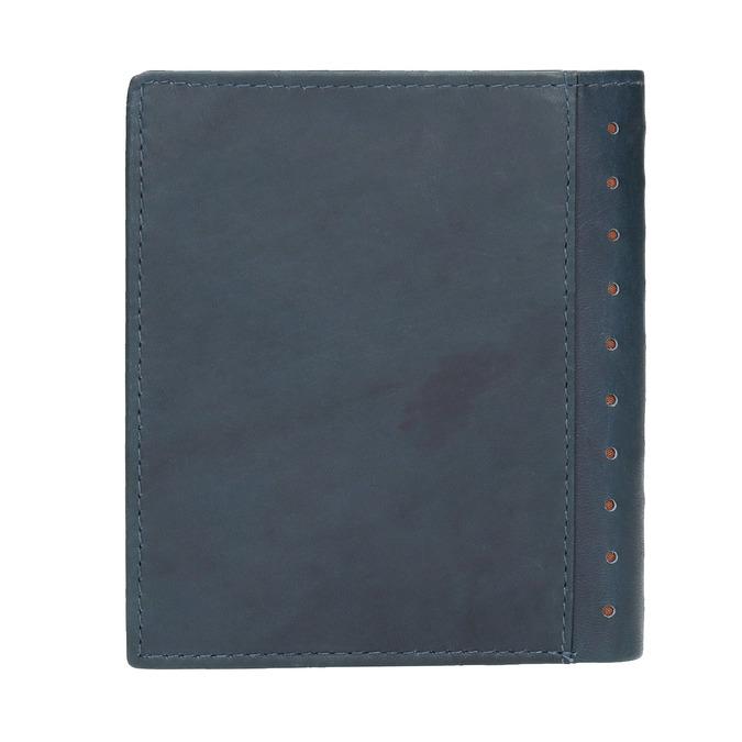 Skórzany portfel zperforacją bata, niebieski, 944-9175 - 19