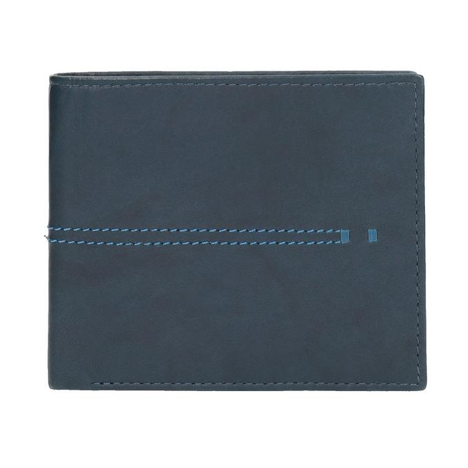 Skórzany portfel zprzeszyciami bata, niebieski, 944-9176 - 26