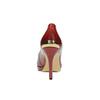 Damskie skórzane czółenka hogl, czerwony, 728-5003 - 17