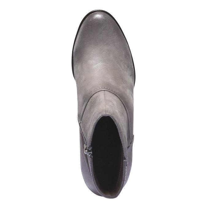 Skórzane botki bata, szary, 796-2122 - 19