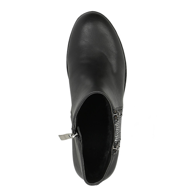 Damskie botki z zamkami bata, czarny, 591-6612 - 19