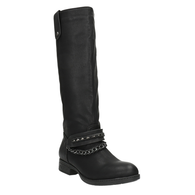 Kozaki damskie bata, czarny, 591-6611 - 13