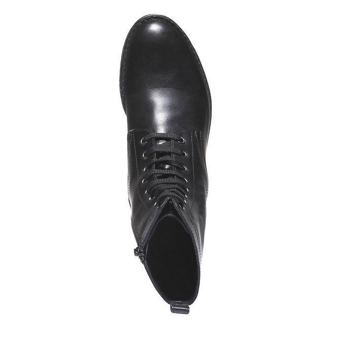 Botki na wyrazistej podeszwie bata, czarny, 594-6211 - 19