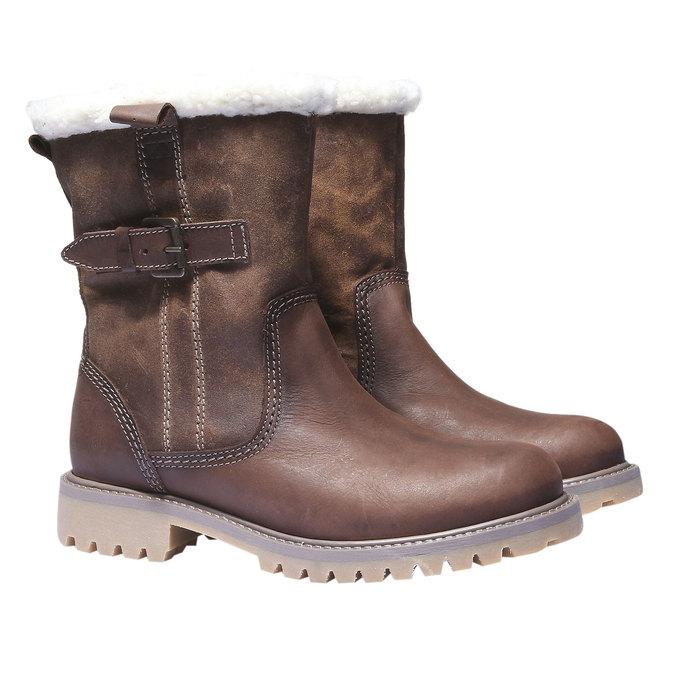 Skórzane buty z antypoślizgową podeszwą weinbrenner, brązowy, 594-4455 - 26