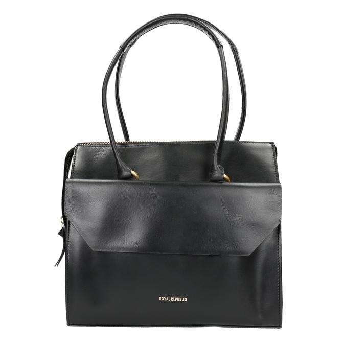 Skórzana torba zodpinanym paskiem royal-republiq, czarny, 964-6018 - 26