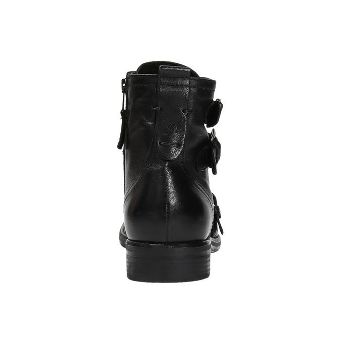 Skórzane buty ze sprzączkami bata, czarny, 894-6683 - 17