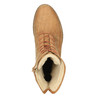 Ocieplane botki ze skóry bata, brązowy, 596-3610 - 19