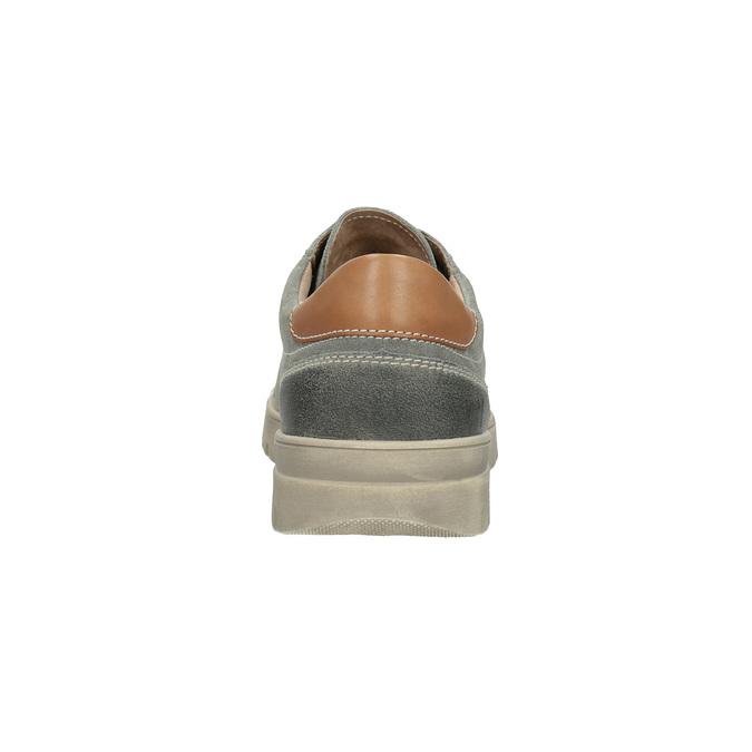 Męskie skórzane buty sportowe weinbrenner, szary, 843-2620 - 17