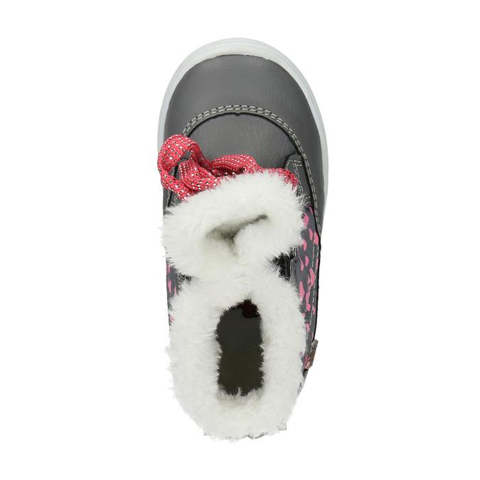 Zimowe buty dziecięce zserduszkami bubblegummer, szary, 199-2600 - 19