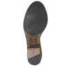 Wysokie skórzane kozaki w kowbojskim stylu bata, brązowy, 696-3608 - 26