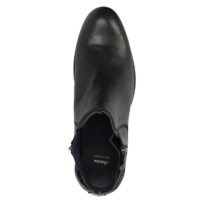 Męskie buty o długości do kostki bata, czarny, 894-6656 - 19