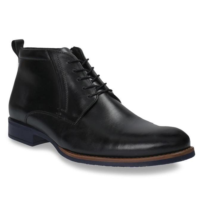 Skórzane ocieplane buty za kostkę conhpol, czarny, 894-6679 - 13