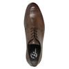 Brązowe półbuty ze skóry bata, brązowy, 824-4711 - 19