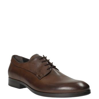 Brązowe półbuty ze skóry bata, brązowy, 824-4711 - 13