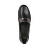 Czarne skórzane slip-on damskie flexible, czarny, 514-6252 - 19