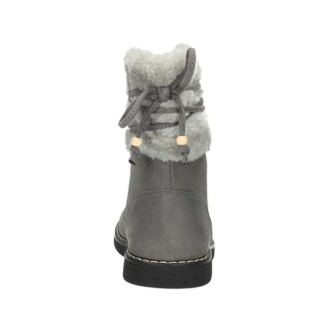 Dziecięce buty z futerkiem mini-b, szary, 399-2247 - 17
