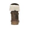 Zimowe skórzane buty damskie manas, brązowy, 596-4602 - 17
