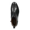 Skórzane buty za kostkę, ze zdobieniami brogue vagabond, czarny, 894-6003 - 19