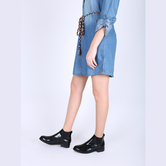 Chelsea boots damskie ze skóry bata, czarny, 594-6902 - 18