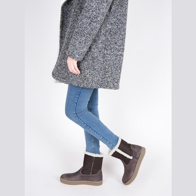 Skórzane buty zimowe z futerkiem weinbrenner, brązowy, 596-8628 - 18
