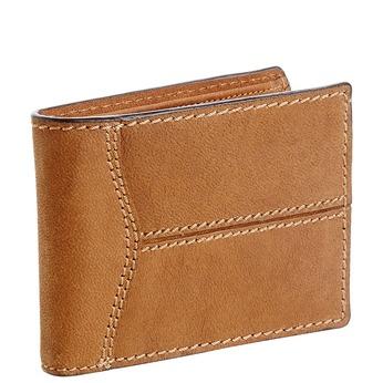 Męski skórzany portfel z przeszyciami bata, brązowy, 944-3146 - 13
