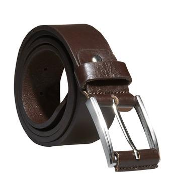 Klasyczny skórzany pasek bata, brązowy, 954-4833 - 13