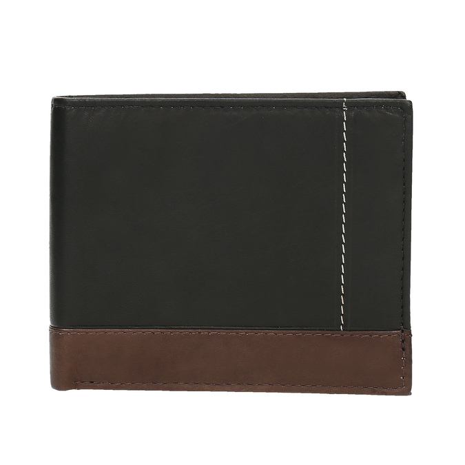 Męski skórzany portfel bata, czarny, 944-6149 - 26