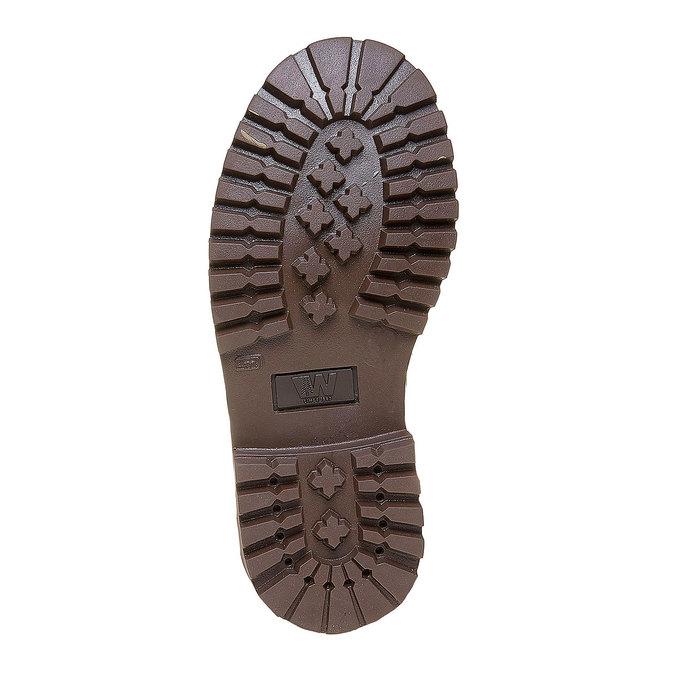 Dziecięce buty zimowe ze skóry weinbrenner-junior, brązowy, 394-4182 - 26