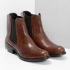 Skórzane buty Chelsea bata, brązowy, 594-4448 - 26