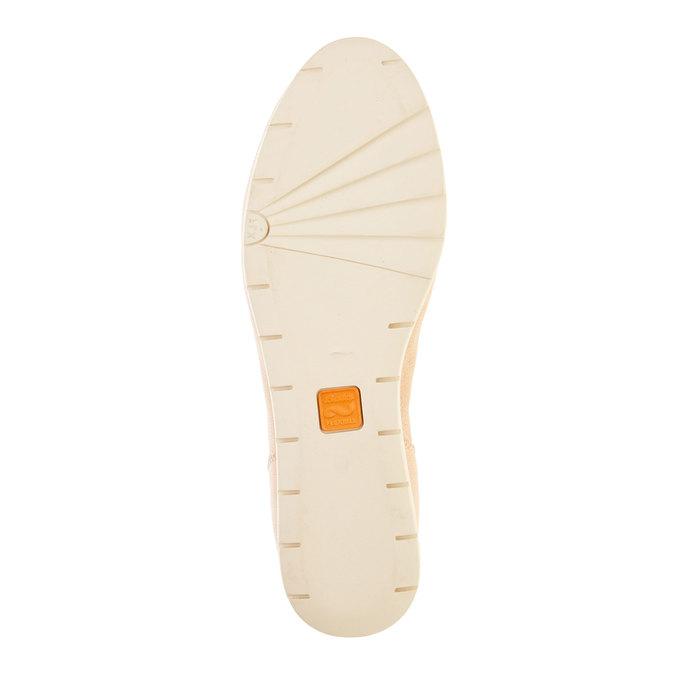 Damskie skórzane półbuty flexible, beżowy, 524-8565 - 26