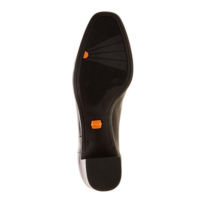 Skórzane czółenka flexible, czarny, 624-6706 - 26
