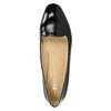 Baleriny damskie ze skóry bata, czarny, 528-6630 - 26