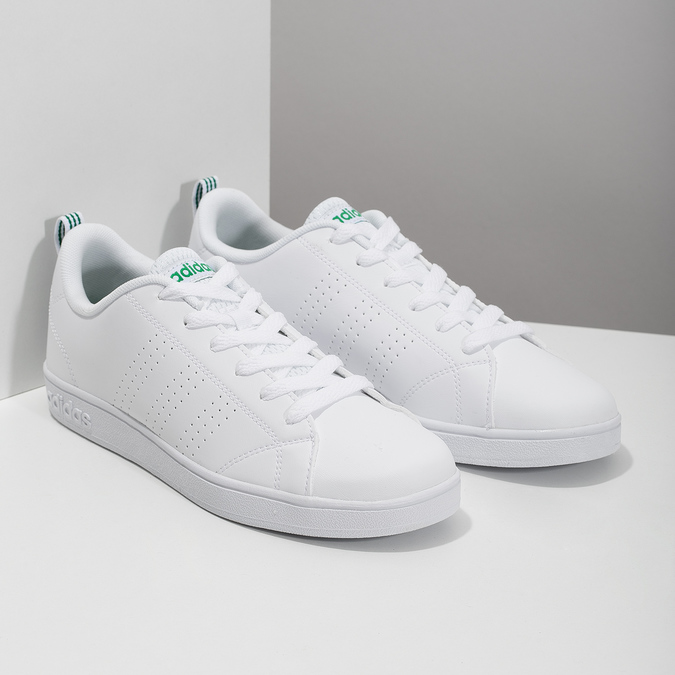Białe trampki ze złotymi detalami adidas, biały, 501-1300 - 26