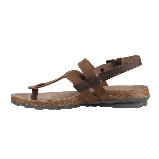 Damskie skórzane sandały weinbrenner, brązowy, 566-4101 - 16