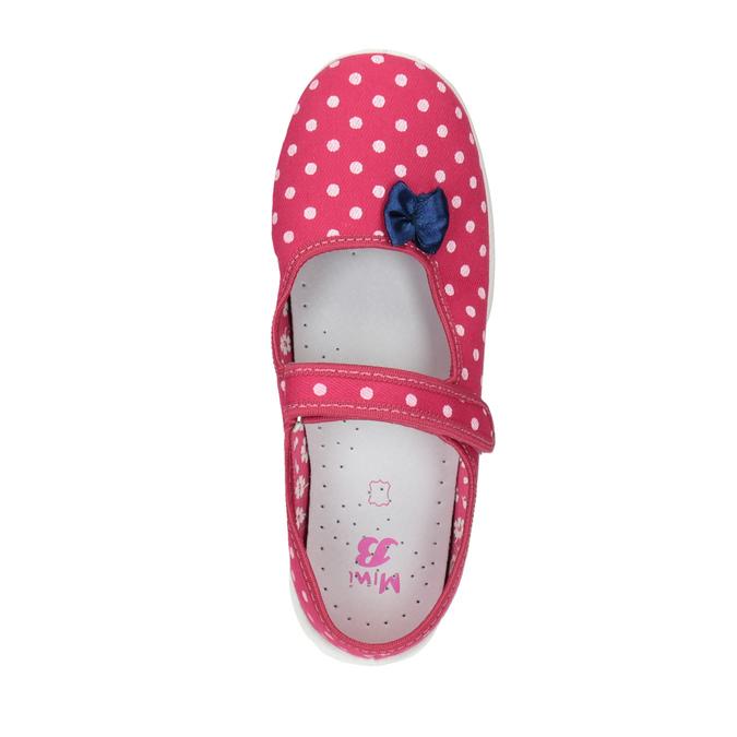 Dziecięce buty domowe z paskiem w poprzek podbicia mini-b, różowy, 379-5209 - 19