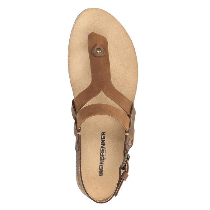 Damskie skórzane sandały weinbrenner, brązowy, 566-4101 - 19