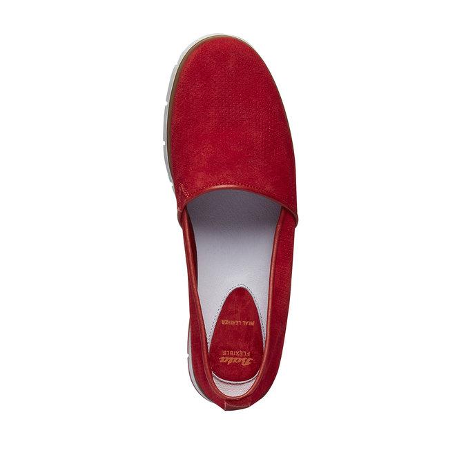Skórzane buty Slip-on z perforacją flexible, czerwony, 513-5200 - 19