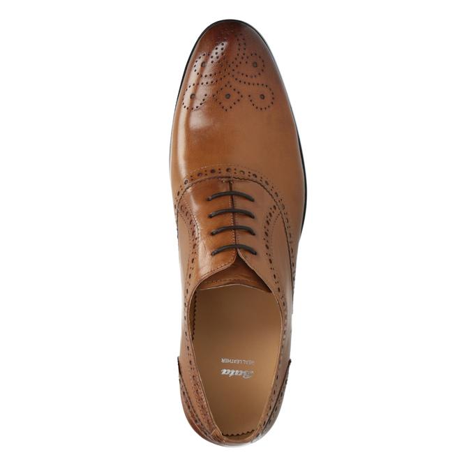 Brązowe półbuty ze skóry typu Oxford bata, brązowy, 824-3641 - 19