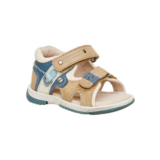 Sandały dziecięce mini-b, brązowy, 161-3100 - 13