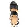 Skórzane sandały na szerokim obcasie bata, czarny, 664-6205 - 19