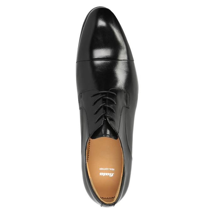 Skórzane półbuty w stylu Derby bata, czarny, 824-6652 - 19