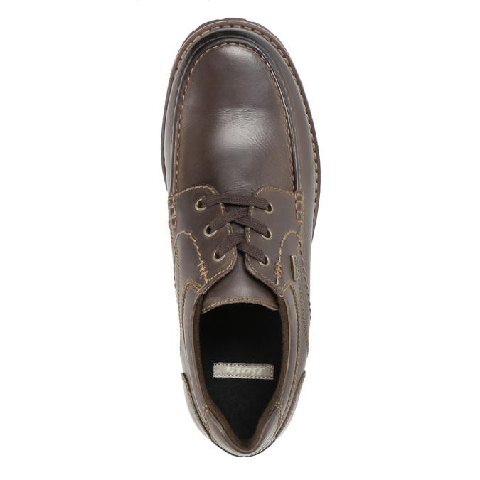 Nieformalne półbuty ze skóry bata, brązowy, 826-4640 - 19