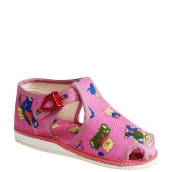 Kapcie dziecięce bata, różowy, 179-5210 - 13