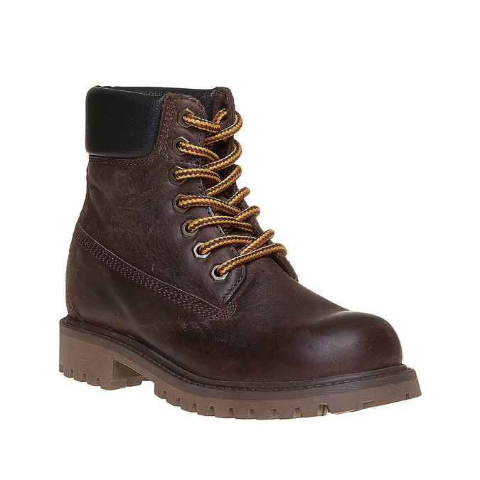 Dziecięce buty zimowe ze skóry weinbrenner-junior, brązowy, 394-4182 - 13