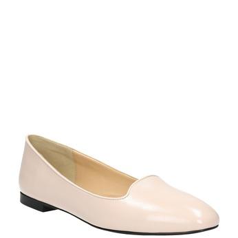 Baleriny damskie ze skóry bata, różowy, 528-5630 - 13