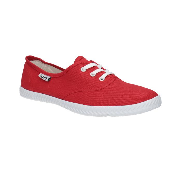 Czerwone trampki damskie tomy-takkies, czerwony, 519-5691 - 13